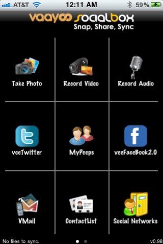 Vaayoo SocialBox screenshot 1