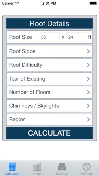 Delightful Iphone Screenshot 1 Roofing Calculator Free On The App