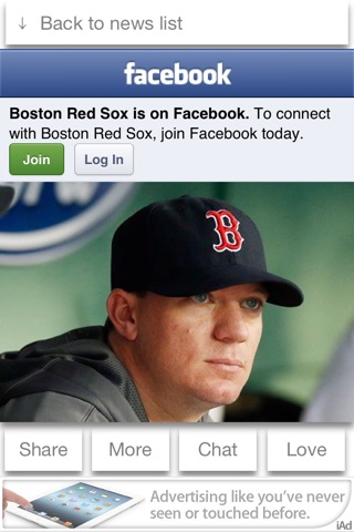 Boston Baseball 2013 Free - News, Chat, & Scores screenshot 2