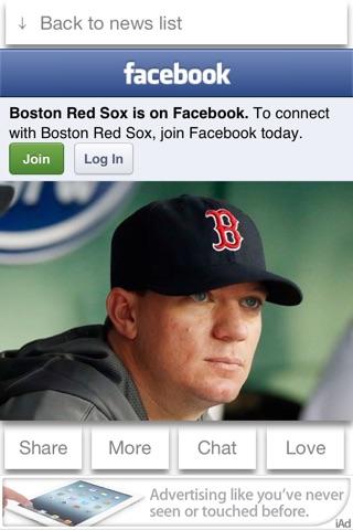 Boston Baseball 2013 Free - News, Chat, & Scores screenshot 2