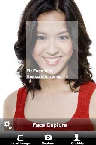Screenshot #1 for Camera ClickMe Free: Self Portrait using face detection
