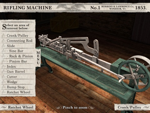 Civil War Rifling Machine (1853) App screenshot 3