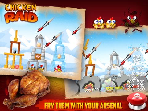 Chicken Raid HD screenshot 3
