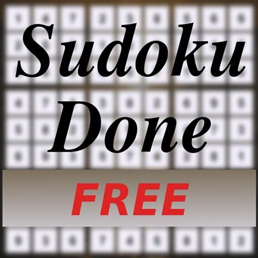 Sudoku Done FREE iOS App