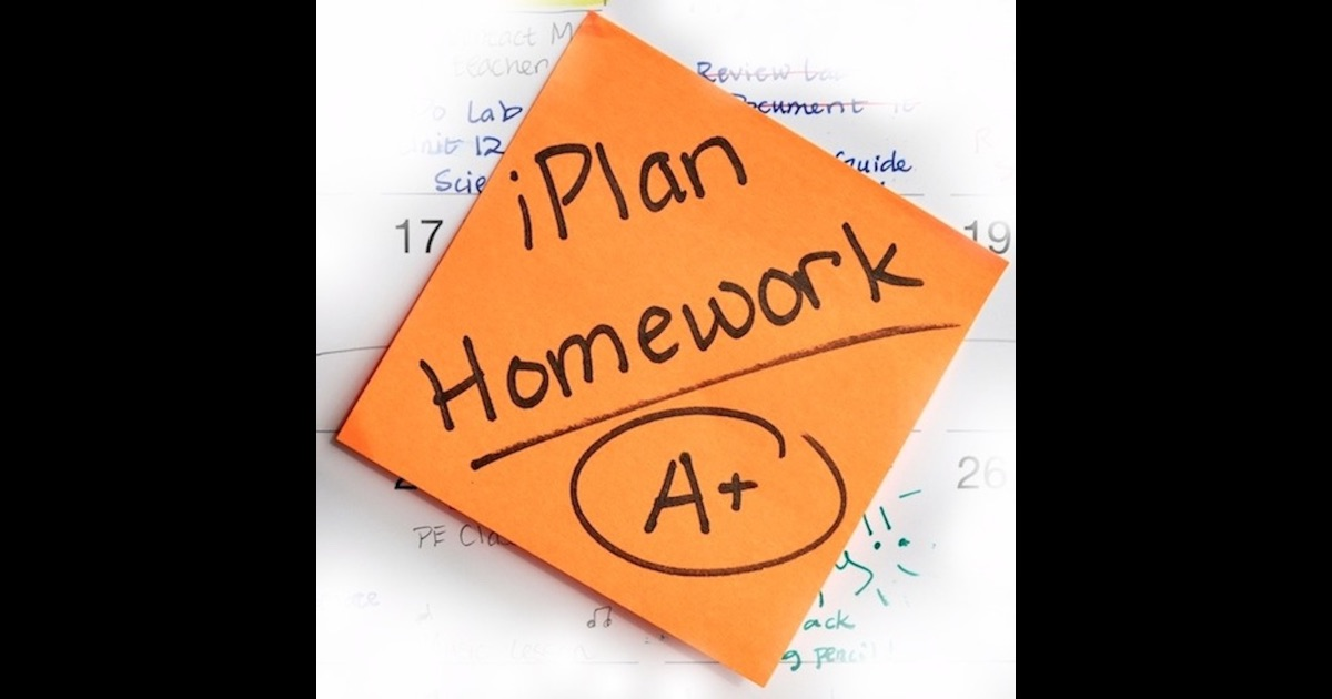 Iplanhomework on the app store Iplan app