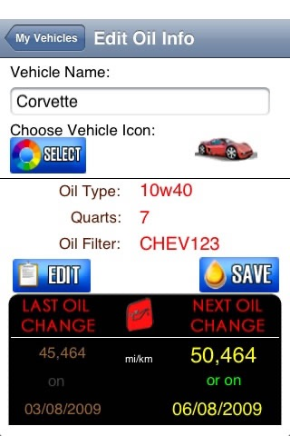 Oil Change - Track any vehicle screenshot 2