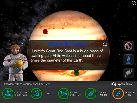 Screenshot #5 for iLearn Solar System HD : Making Science Fun