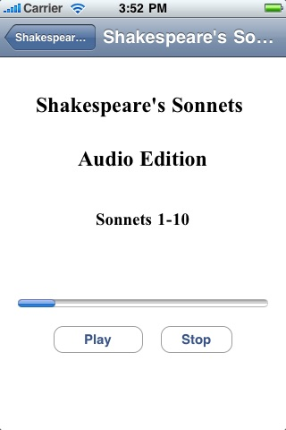 Shakespeare's Sonnets - Audio Edition screenshot 2