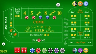 Craps Deluxe Screenshot