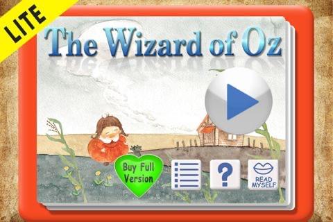 Oz Wizard 미리보기 : 어린이를 위한 움직이는 동화 screenshot 1