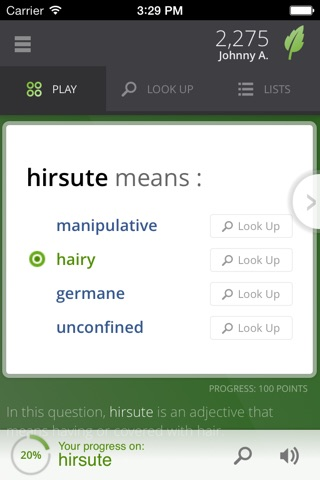 Vocabulary.com screenshot 1