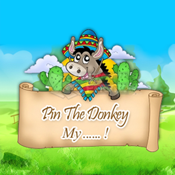 Pin the Donkey with a face