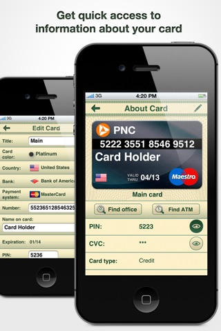 Cards On Palm : Credit Cards Wallet & ATM Finder screenshot 2