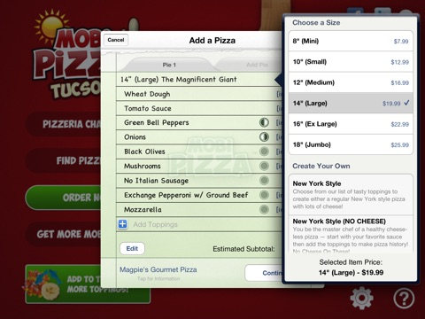 Mobi Pizza - Tucson screenshot 1