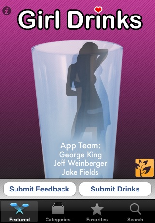 Screenshots of Girl Drinks for iPhone