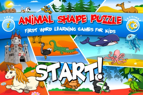 Abby - Animal Preschool Shape Puzzles - First Word (Farm Animals, ZOO...) screenshot 2