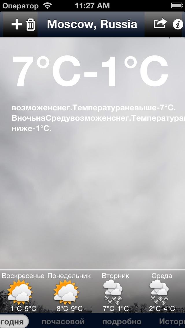 iWeather - глобальные точный прогноз погодыСкриншоты 5