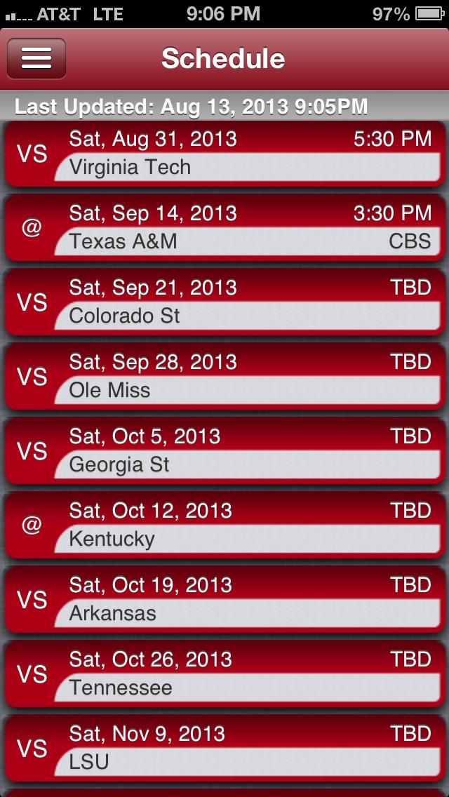 Alabama Football Live review screenshots