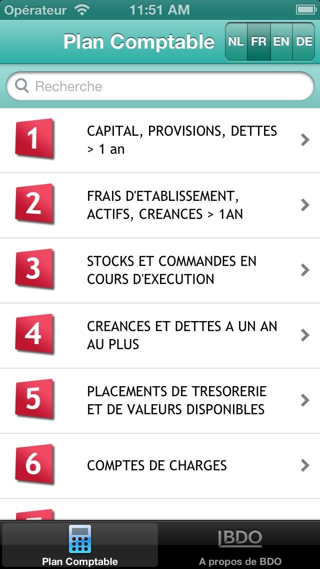 Plan comptable belgeCapture d'écran de 2