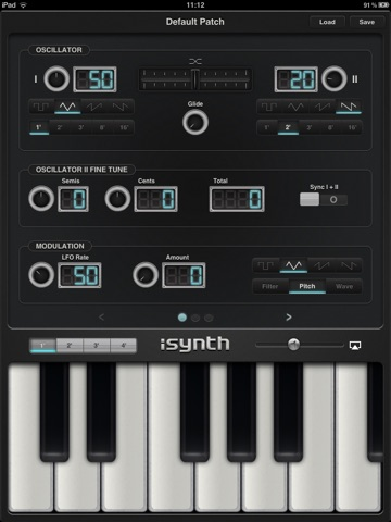 iSynth - Synthesizer for the iPad screenshot 1