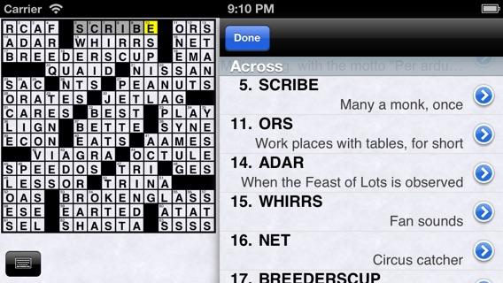 Internet hookup crossword