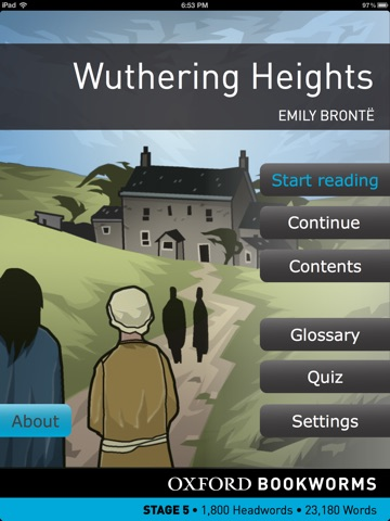 Wuthering Heights: Oxford Bookworms Stage 5 Reader (for iPad) screenshot 1
