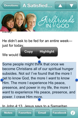 Girlfriends in God Devotional screenshot 3