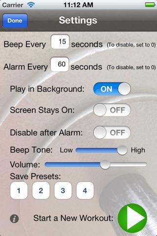 Workout Time Lite screenshot 2