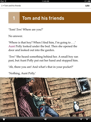 The Adventures of Tom Sawyer: Oxford Bookworms Stage 1 Reader (for iPad) screenshot 2