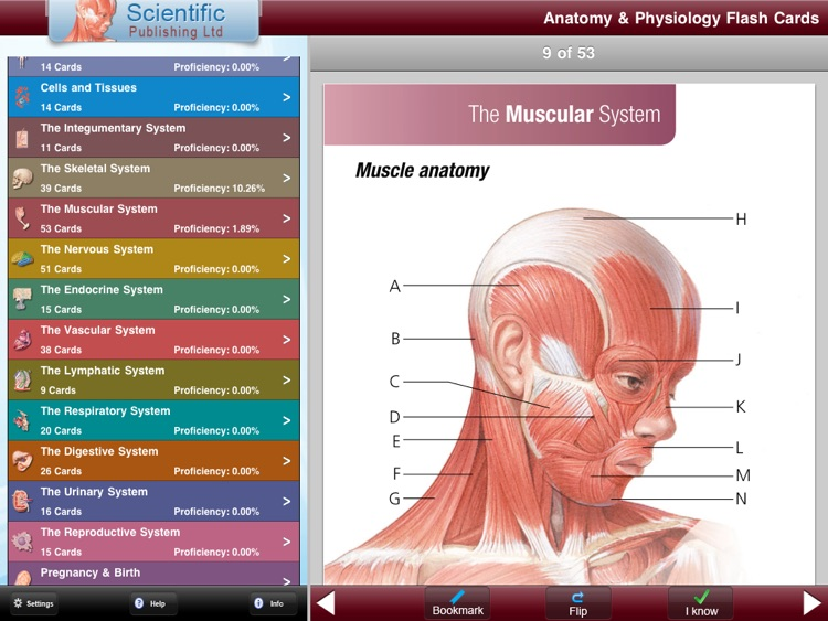 Anatomy & Physiology Flash Cards for iPad by Scientific Publishing Ltd.