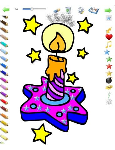 Coloriages de Noël pour les enfants pour iPad avec des crayons de couleurs - 36 dessins à colorier avec le Père Noël, des sapins, des lutins, et plus - GRATUIT screenshot 4