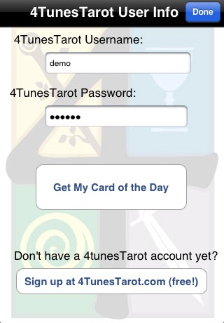 4TunesTarot screenshot 4