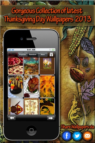 Thanksgiving HD Wallpapers for iPhone5S/iPhone5C/iPad screenshot 4