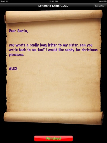 Screenshots of Letters to Santa Gold for iPad