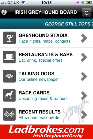 Irish Greyhound Board screenshot 1
