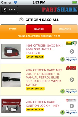 PartShark Car Spares screenshot 2