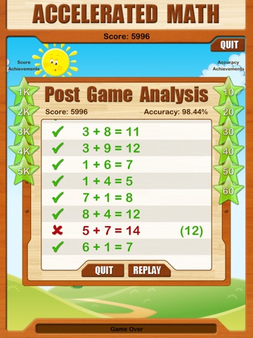 Ace Speed Math HD screenshot 2