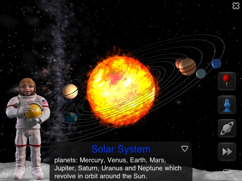 Screenshot #1 for iLearn Solar System HD : Making Science Fun