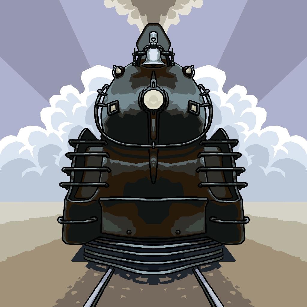 观光小火车 手绘