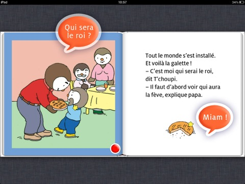 T 39 choupi aime la galette by thierry courtin on ibooks - Tchoupi galette ...