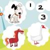 123 Tiere Zählen: Pferde, Gratis Kinder-Spiel zum Mathe-Lernen. Mathematik-Aufgaben lösen und Spaß haben! Vorbereitung für Schule & Kindergarten, Spiele mit Zahlen-Reihen und Logik