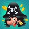 Piraten-Spiel für Kinder im Alter von 2-5: Spiele und Puzzles für Kindergarten, Vorschule oder Kindergarten mit Pirat, Kapitän, Papagei, Schatz-kiste, Krokodil und ein Schiff im Meer!
