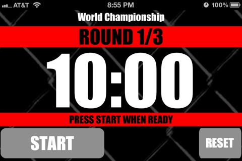 MMA Timer - Pro Mixed Martial Arts Round & Interval Timer screenshot 3