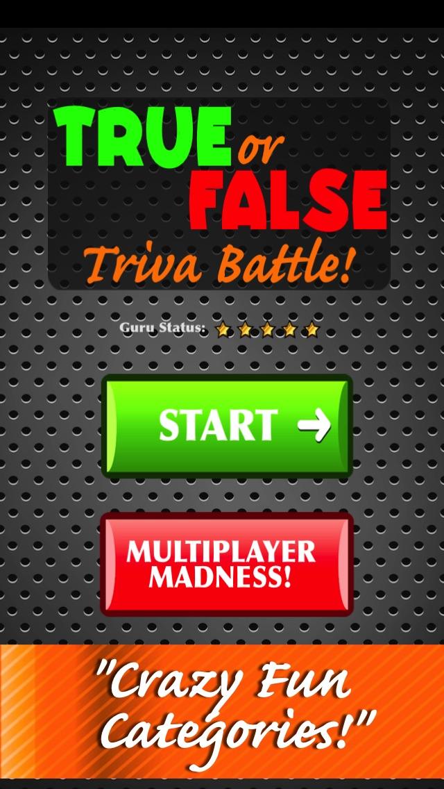 True False - Невозможно Общая Битва Бесплатный Миллионер изданиеСкриншоты 1