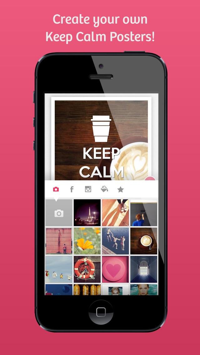Keep Calm - Turn your instagram, facebook photos into Keep Calm poster with KeepCalmrScreenshot of 2
