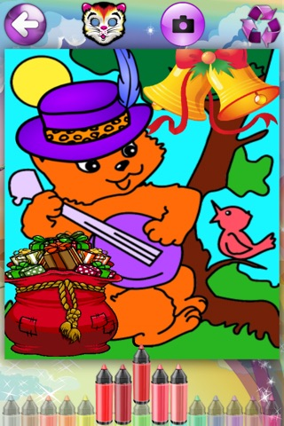 Coloring Pages with Cute Kittens for Girls & Boys - Fashion Painting Sheets and Principe Games for Kids & Babies screenshot 1