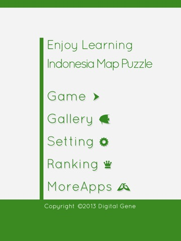 Enjoy Learning Indonesia Map Puzzle iPad