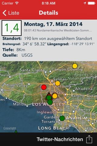 Earthquake - worldwide coverage of natural disasters screenshot 3
