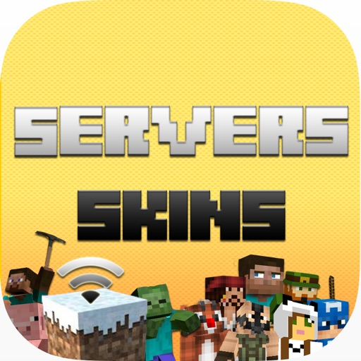 Servers & Skins For Minecraft - Servers IP List, Multiplayer & Skin Textures To Change Your Skin iOS App