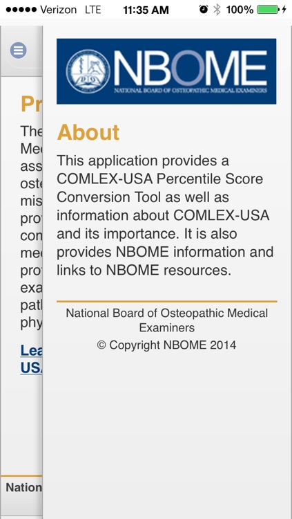 NBOME Score Converter by NBOME